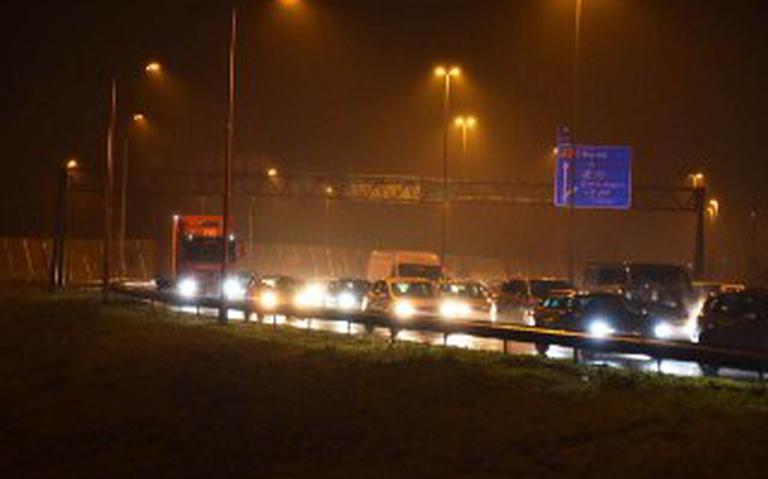 Ongeval op Julianaplein Groningen; forse hinder op A7 en A28.