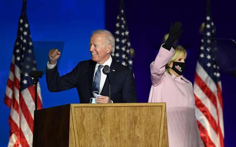 Joe Biden verslaat Donald Trump en wordt dankzij winst in sleutelstaat Pennsylvania de nieuwe president van de Verenigde Staten