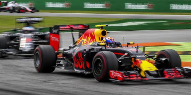 Verstappen tijdens de training in Singapore.