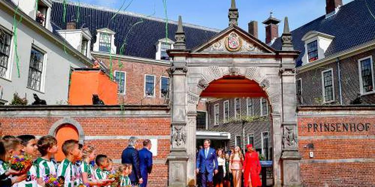Koninklijke familie aangekomen in Groningen