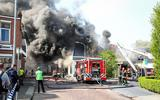 Brandweer geeft sein 'brand meester' na explosie in pand Winschoten