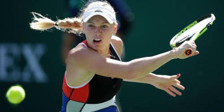 Wozniacki eruit in Indian Wells