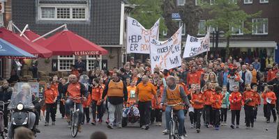 Supporters strijden voor behoud club. FOTO BOUDEWIJN BENTING