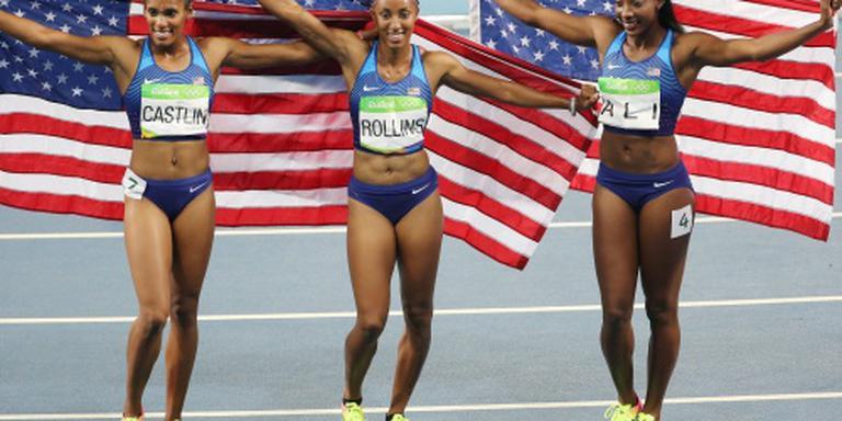 Amerikaans podium op 100 meter horden