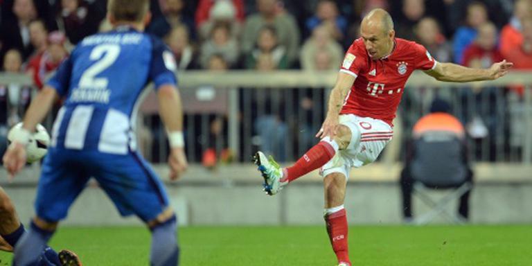 Robben scoort bij rentree bij Bayern