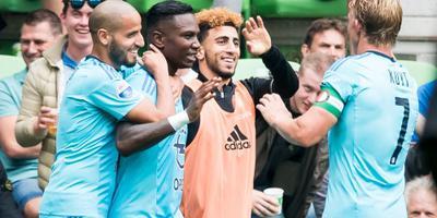 Flitsende start Feyenoord tegen FC Groningen. FOTO ANP