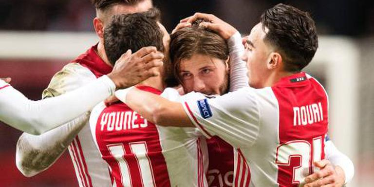 Ajax met tweede keus naar groepszege
