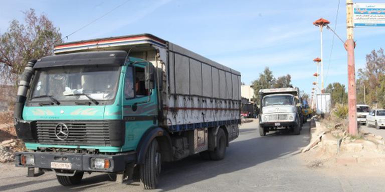 Hulpgoederen bereiken Syrische steden