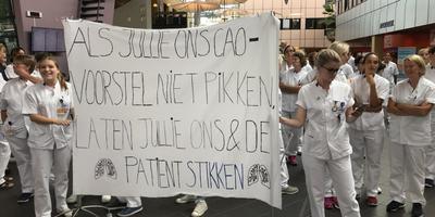 Eerdere demonstratie bij het UMCG. Foto: Archief DvhN