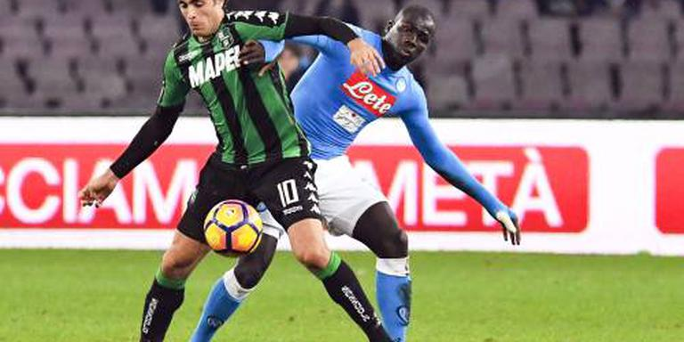 Napoli verspeelt voorsprong tegen Sassuolo