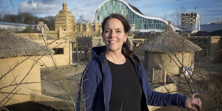 Irene Louwrier, hoofd marketing Wildlands, in het nieuwe park.