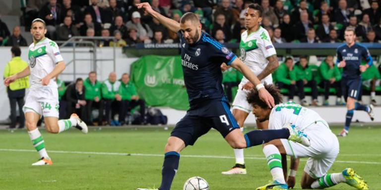 Ook Real Madrid kan niet winnen in Wolfsburg