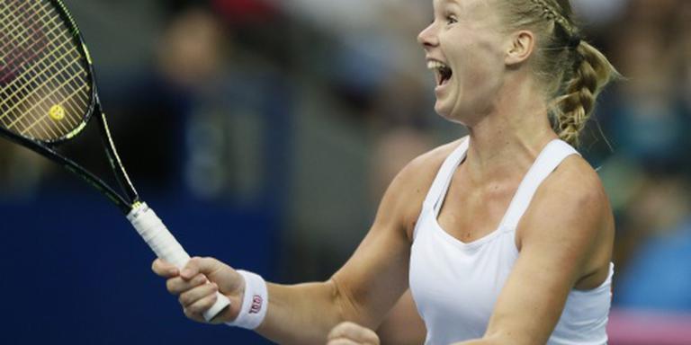 Tennissters stunten met zege op Rusland
