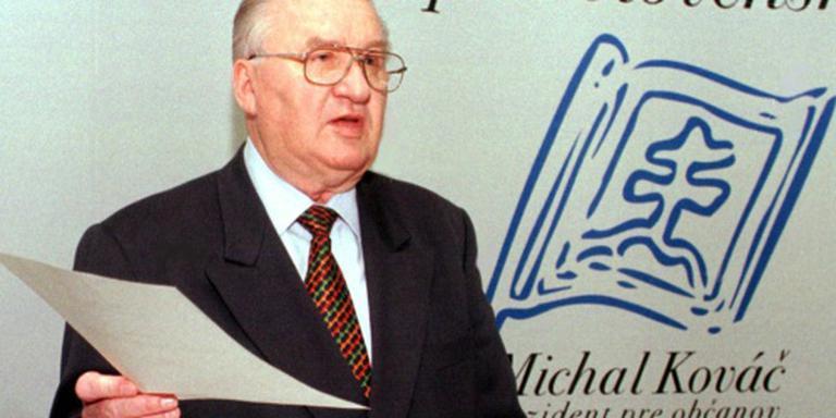 Grondlegger Kovac van Slowakije overleden