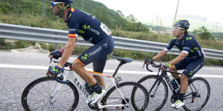 Feest voor Movistar in Route du Sud