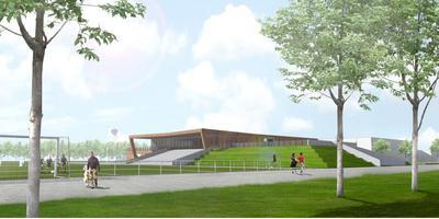 Een schets van het beoogde mfc door architect Niels Feddema