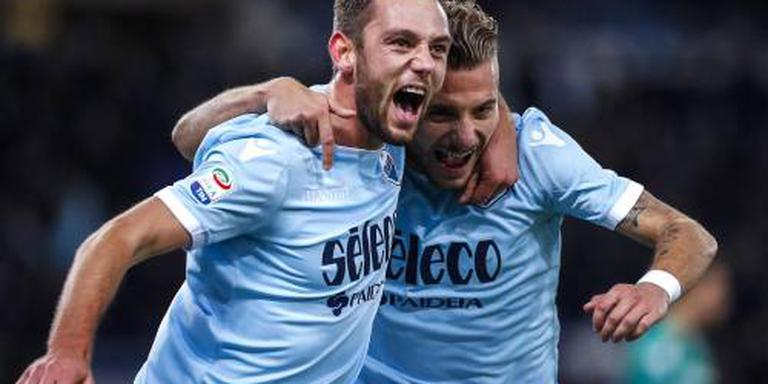 Scorende De Vrij gelijk met Lazio