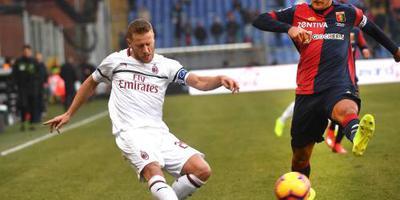 AC Milan zonder Higuaín moeizaam langs Genoa