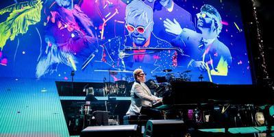 Elton John tijdens zijn Farewell Yellow Brick Road tour in de Ziggo Dome. Foto ANP