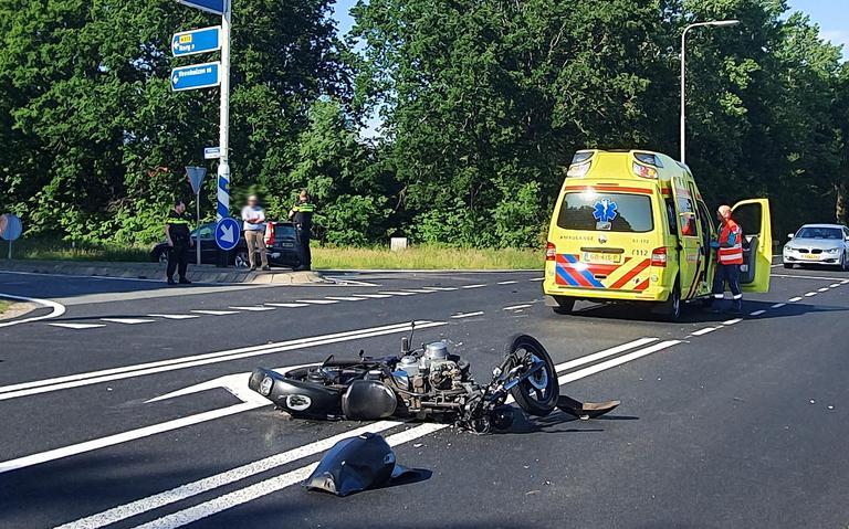 Motorrijder gewond bij aanrijding in Bovensmilde.