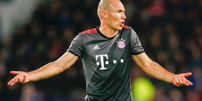 Robben op de bank bij Bayern München