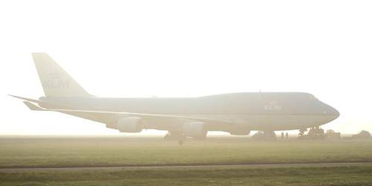 Mist hindert vliegverkeer Schiphol
