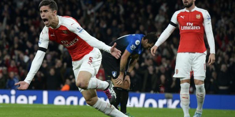 Arsenal pakt koppositie, verlies Southampton