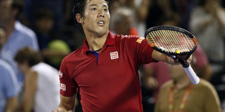 Nishikori in finale tegen Djokovic