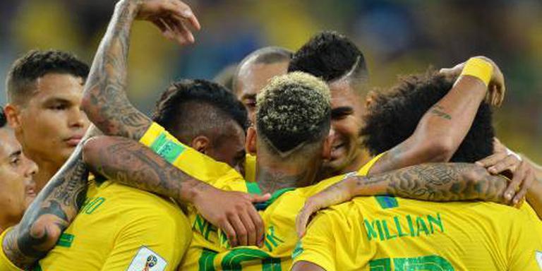 Brazilië zonder te stralen als eerste door