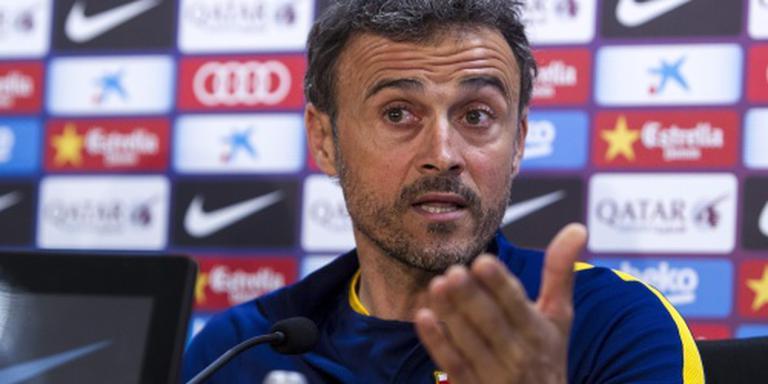 Trainer Enrique rekent op titel Barcelona