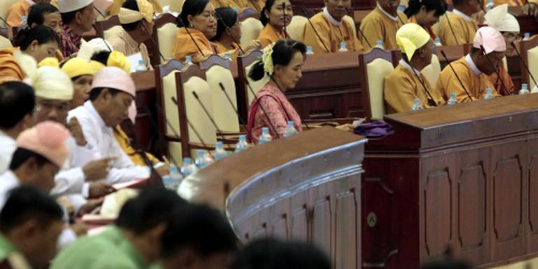 Nieuw parlement Myanmar voor het eerst bijeen