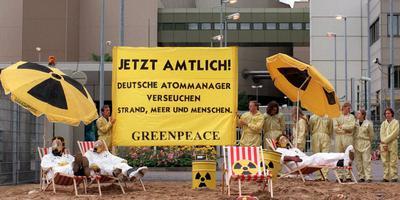 Een eerdere demonstratie bij de kerncentrale in Lingen. Foto: EPA