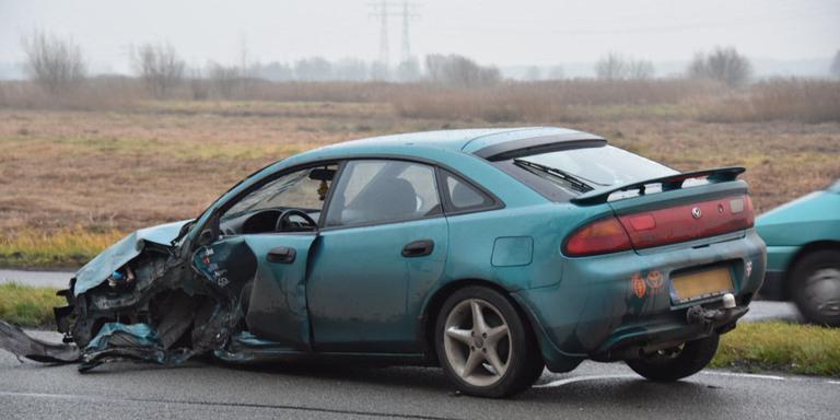 Auto-ongeluk in Waterhuizen