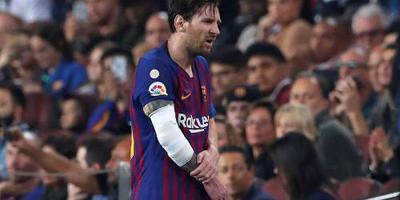 Messi valt uit met elleboogblessure