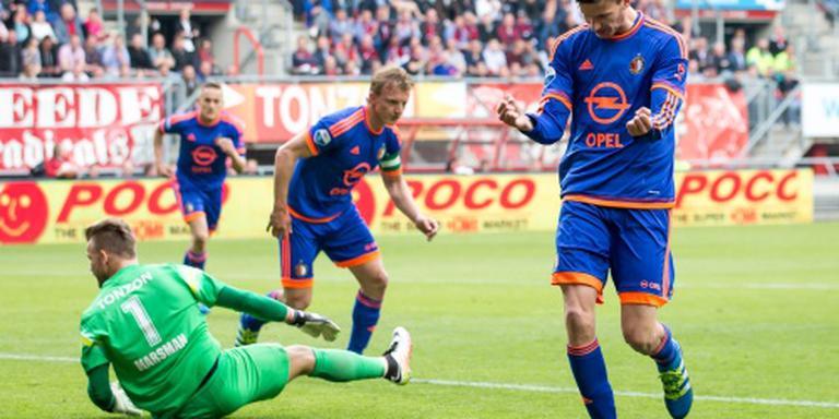 Slordig Feyenoord vaster op derde plaats