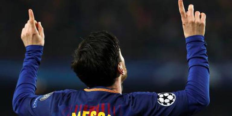 Messi leidt Barcelona naar laatste acht