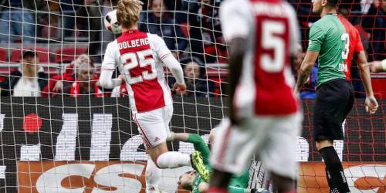 Dolberg steelt de show met hattrick bij Ajax