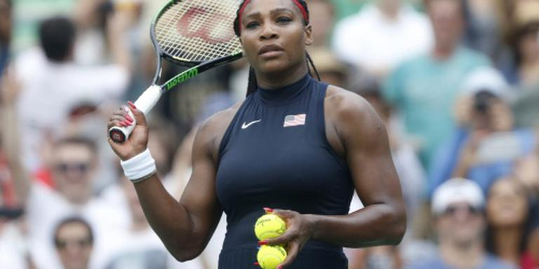 Serena Williams weerstaat wind in Rio