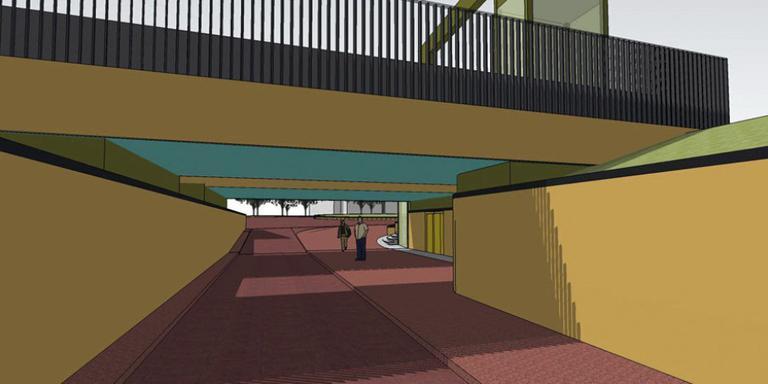 De beoogde fietstunnel van station Haren. FOTO DVHN