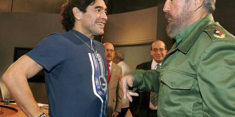 Maradona rouwt om 'tweede vader' Castro