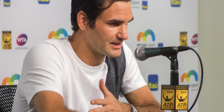 Federer toch niet in Miami door virus