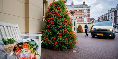 Bloemen bij paleistuin voor prinses Christina