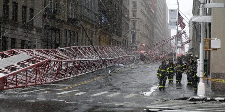 Dode na omvallen kraan in New York