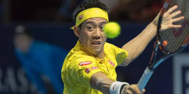 Nishikori overleeft matchpoints in Basel