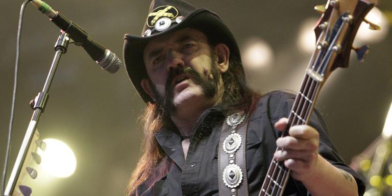 Lemmy Kilmister op een festival in Zwitserland in 2010. Foto EPA