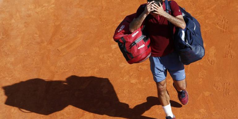 Federer strandt in Rome in derde ronde