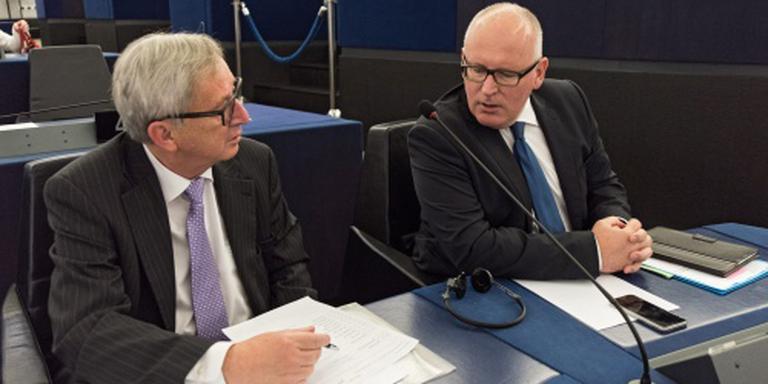 Timmermans verdedigt Juncker