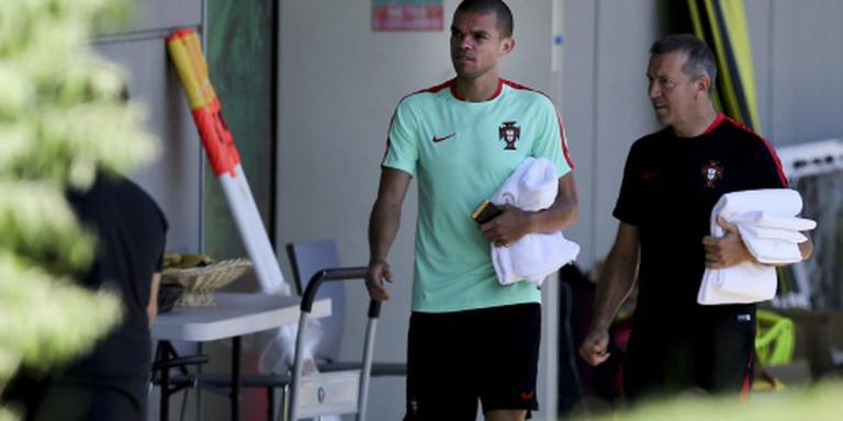 Pepe weer in training