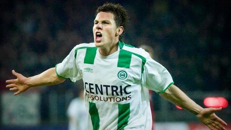 Mark-Jan Fledderus in 2006 in het shirt van FC Groningen. Hij wordt bij de Trots van het Noorden de opvolger van Ron Jans.