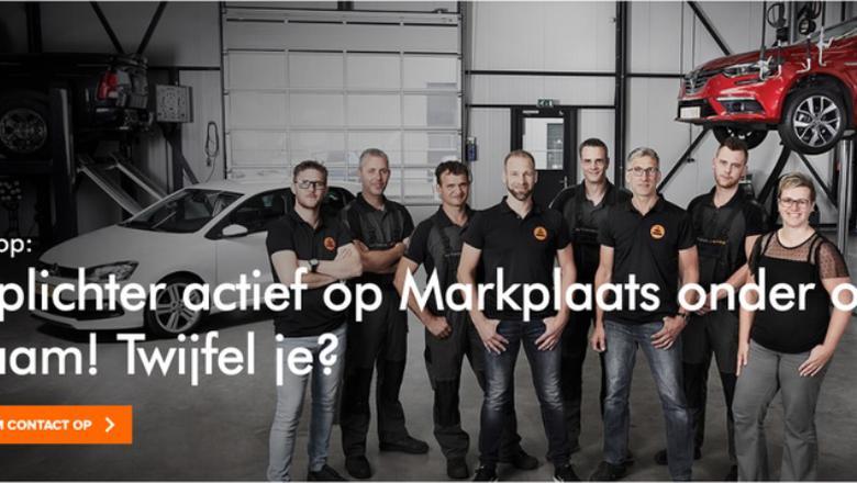 De website van Autobedrijf Otten waarschuwde voor de oplichters. Foto: Autobedrijf Otten